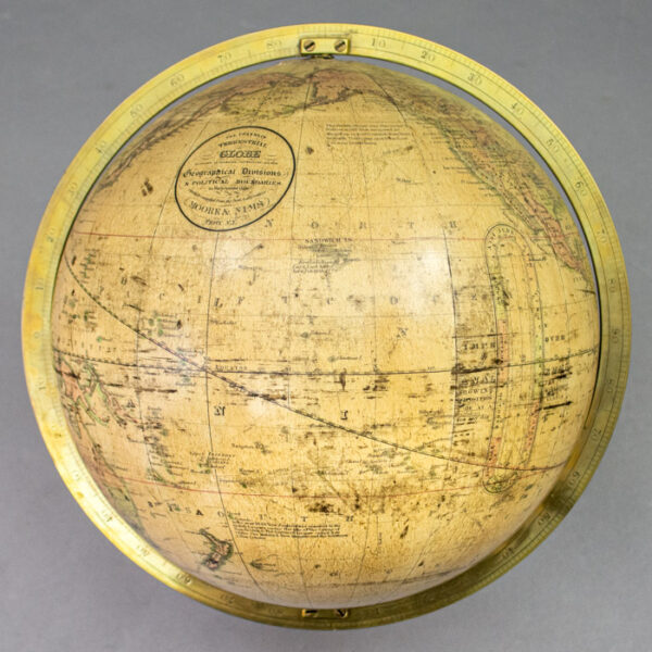 Franklin, Moore & Nims, Terrestrial World, 10-Inch Table Globe, detail