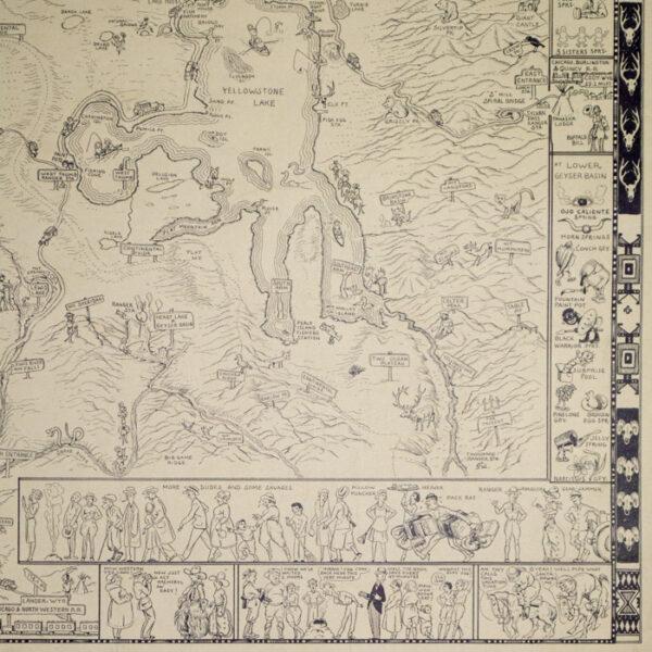 Jo Mora, Yellowstone, detail
