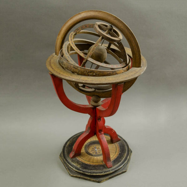 Continental Red Armillary Sphere