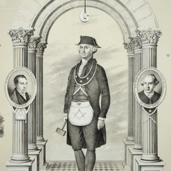 [George Washington] Entered Apprentice, Plate 1, detail