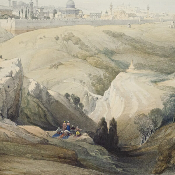 Jerusalem, from the Mount of Olives, detail