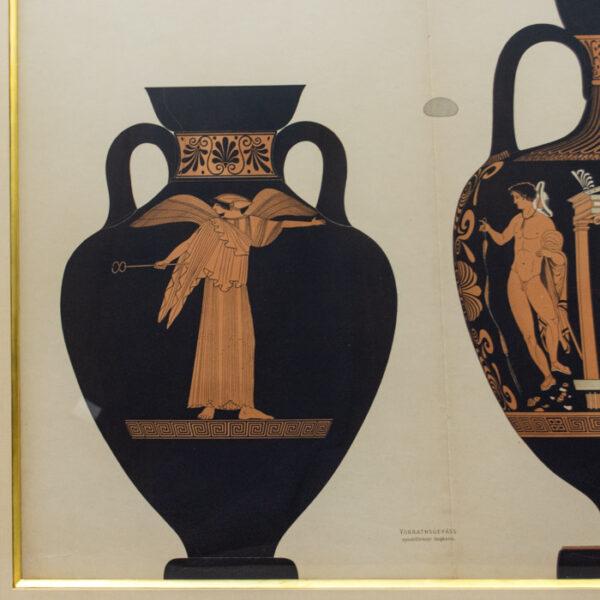 Genick, Kunstgewerbliche Vorbilder, Vorrathsgefäss, spindelförmige Amphoren, detail