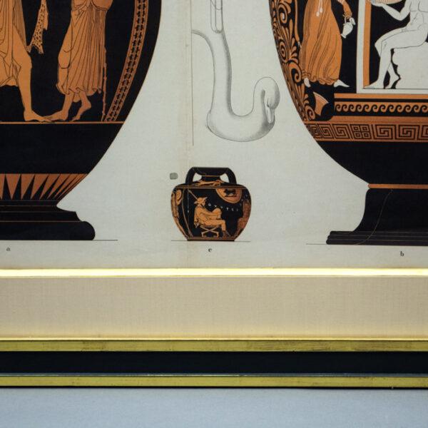 Genick, Kunstgewerbliche Vorbilder, Two large and one small vessel, detail
