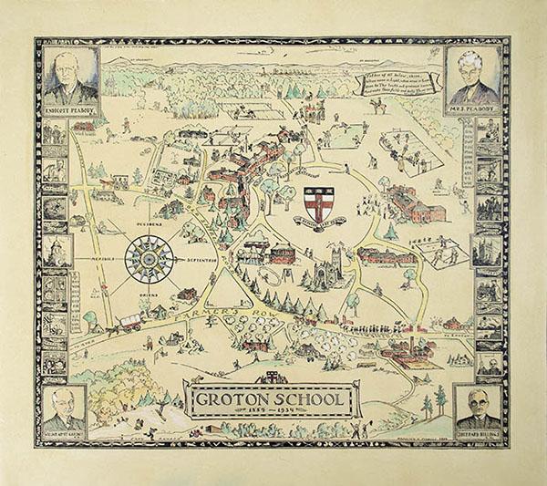 Groton School Pictorial Map