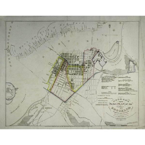 Hooker's New Pocket Plan of the Village of Brooklyn