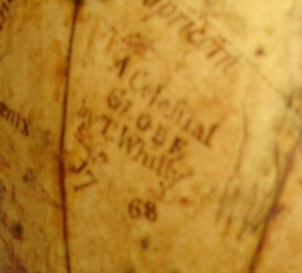 Thomas Whitty, Jr., 7-Inch Celestial Globe, detail