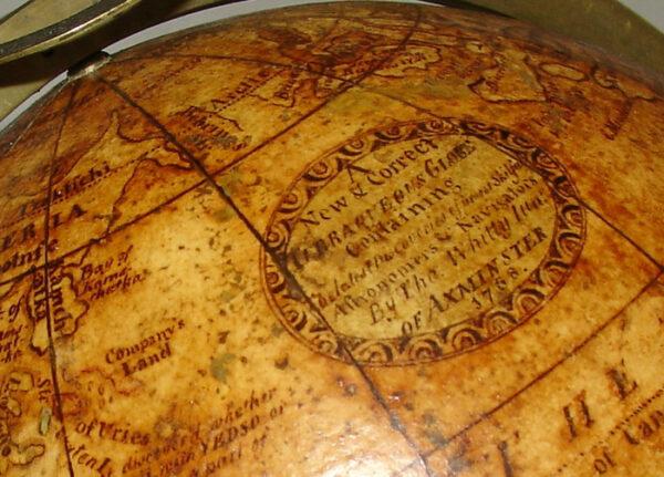Thomas Whitty, Jr., 7-Inch Terrestrial Globe, detail