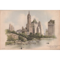 Savoy Plaza and Netherland Hotel Facing Central Park, New York City